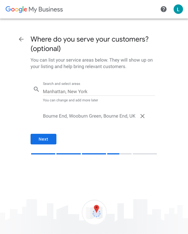 Google My Business Where do you serve customers